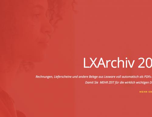 Lexware 2019: Digitales PDF-Archiv LXArchiv 2019 verfügbar