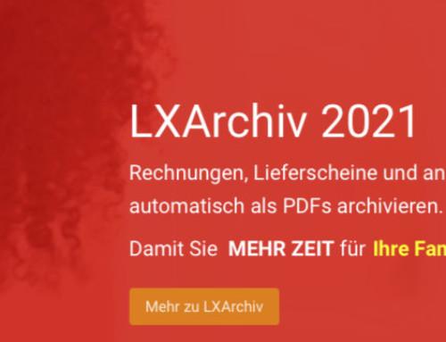 LXArchiv für Lexware Financial Office 2021: PDF-Archivierung 2021 lieferbar